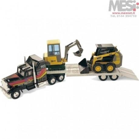 JCB 801, MF 516, MACK - Set mezzi movimento terra e Camion - 1:32/1:35/1:50
