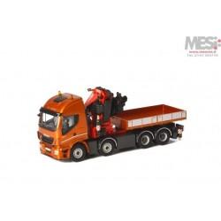 IVECO Stralis HighWay 8x4 FASSI 1100 e BALLAST BOX - Camion - 1:50 - WSI - 04-1167